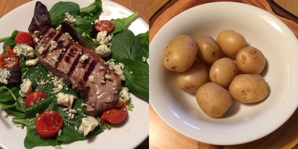 The tastiest steak and Stilton salad