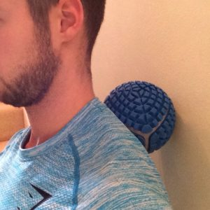 Massage balls are great to ease neck tightness