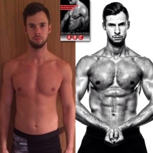 my body transformation using the 12wklmp ebook from ABC fit