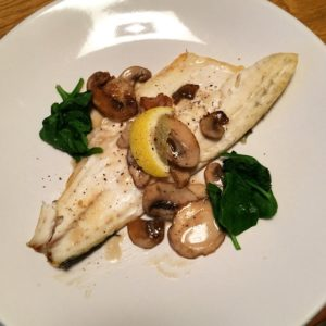 Sea Bass With Sautéed Mushrooms