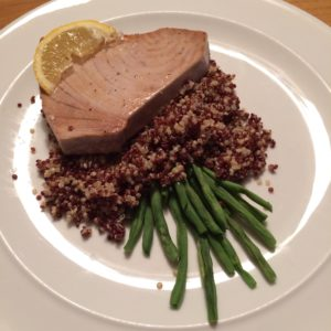 seared tuna quinoa