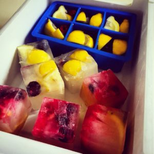 Fruity flavoured ice cubes