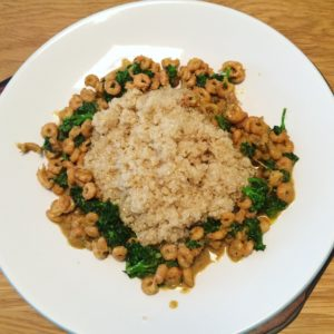 Curried shrimp and quinoa