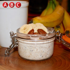 Banana pecan overnight oats